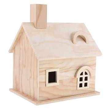 Homyl Casa Registro Cabaña Productos Aves Jaula de Loros Caja Cedro Caseta de Pájaros - Estilo 2: Amazon.es: Juguetes y juegos