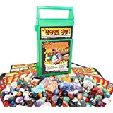 ROCK ON! Geology Game With Rock & Mineral Collection ? Collect And Learn With STEM-based Educational Science Kit In Carrying Case - Amethyst, Rhodonite, Selenite Crystal, Sodalite And Lots More