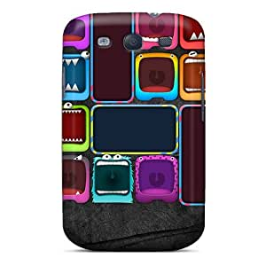 Shock-Absorbing Hard Cell-phone Case For Samsung Galaxy S3 (Pot7742tamE) Support Personal Customs Fashion Monster Image