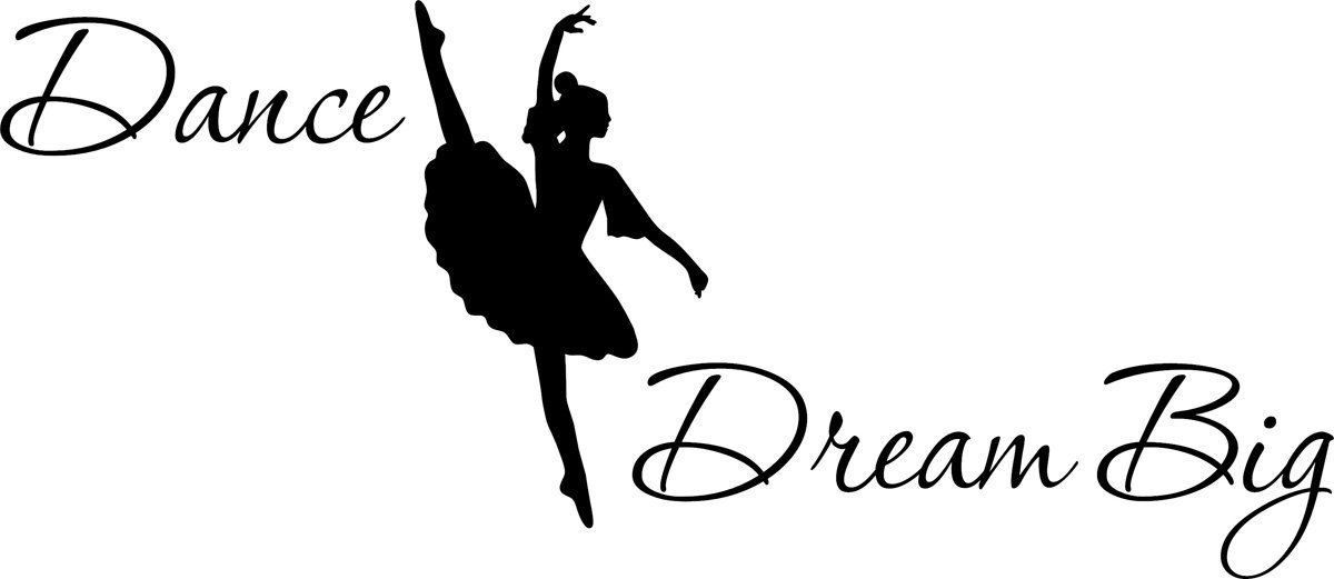 Wall Decal Quote Dance Silhoute Dream Big Wall Decal Sticker Art Mural Home Decor Quote