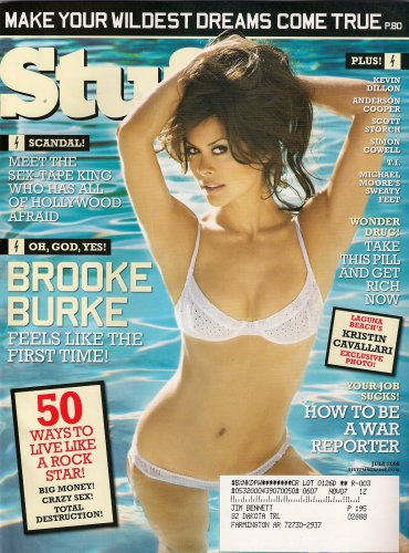 BROOKE BURKE STUFF MAGAZINE JULY 2006 KRISTIN CAVALLARI!