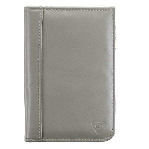 Lewis N. Clark Women's Shetravels RFID-Blocking Passport Wallet, Gray