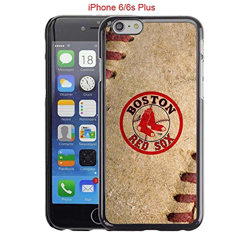iPhone 6 Plus Case, iPhone 6S Plus Cases, Boston Red Sox Logo 30 Drop Protection Never Fade Anti Slip Scratchproof Black Hard Plastic PC Case