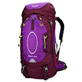 Bolang 55 Liter Outdoor Hiking Camping Travel Bag Climbing Internal Frame Backpacks (Purple 55l, Model 8145)