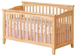 Atlantic Furniture Columbia Convertible Crib, Natural Maple