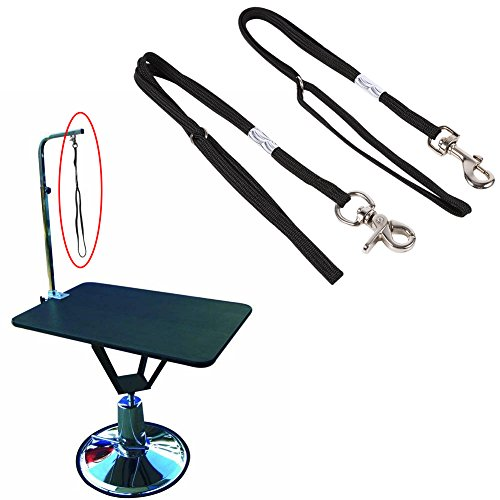 Dog Harness Grooming (2Types Pet Dog Cat Grooming Table Arm Bath Adjustable Restraint Rope Harness Noose Loop (S))
