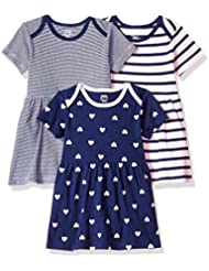 Amazon Essentials Girls' Baby 3-Pack Dress