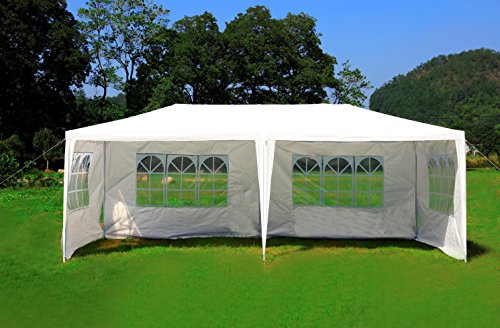 MCombo Canopy Party outdoor Gazebo Wedding Tent Removable Walls, White, 10′ x 20′