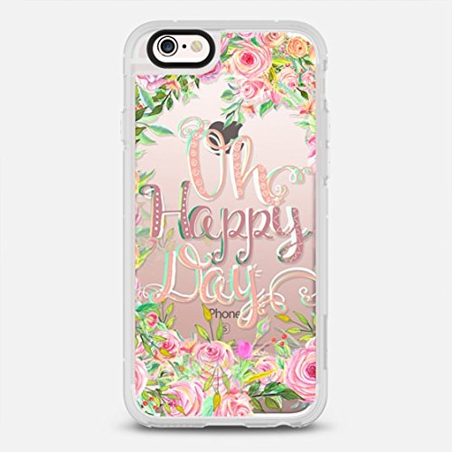 new style c84cf a8908 iPhone 6s Case, Casetify Standard Protective Snap Cover Case for iPhone 6 &  6s (4.7 inch) (Oh Happy Day! Pattern)