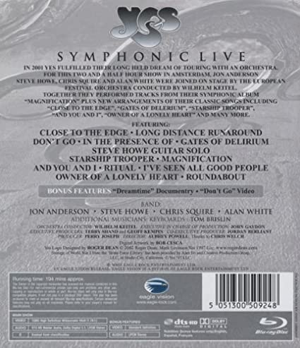 Yes - Symphonic Live [Alemania] [Blu-ray]: Amazon.es: Yes, Powell ...