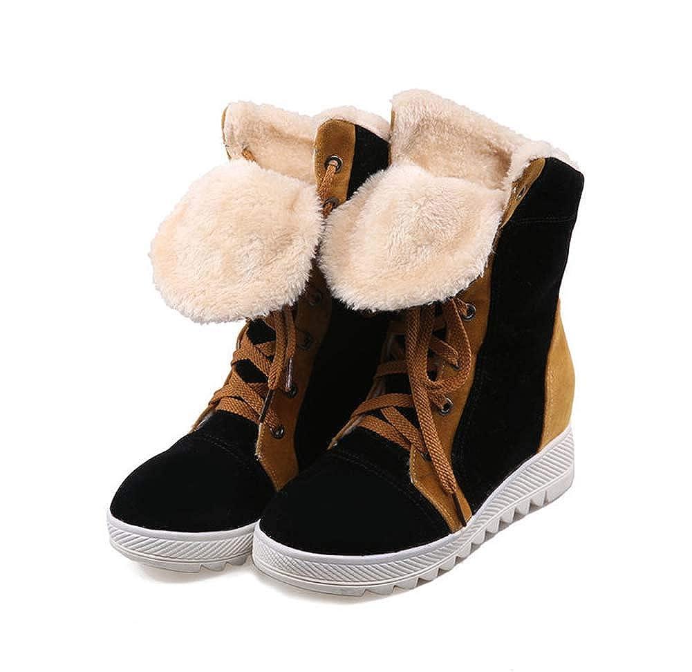 Frauen Schneeschuhe Winter Keep Warm kurze Stiefel Lace-Stiefel lässige Schuhe Schuhe Schuhe Waterproof Pull auf Short Stiefel Ladies Fur Lined Ankle Stiefel Grip Sole f2f2cd