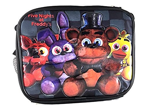 Five Nights At Freddys Lunch Bag FNAF Snack Bag Bonnie Chica Foxie -Back Checker