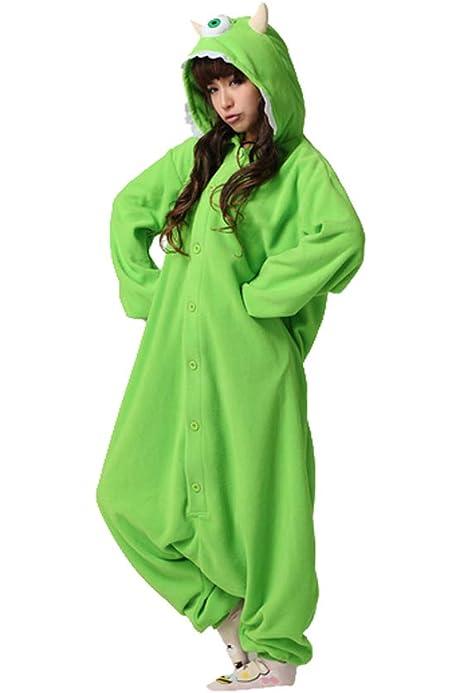 Amazon Com Es Unico Monster Inc Mike Wazowski Adult Onesie Costume For Women And Men Clothing