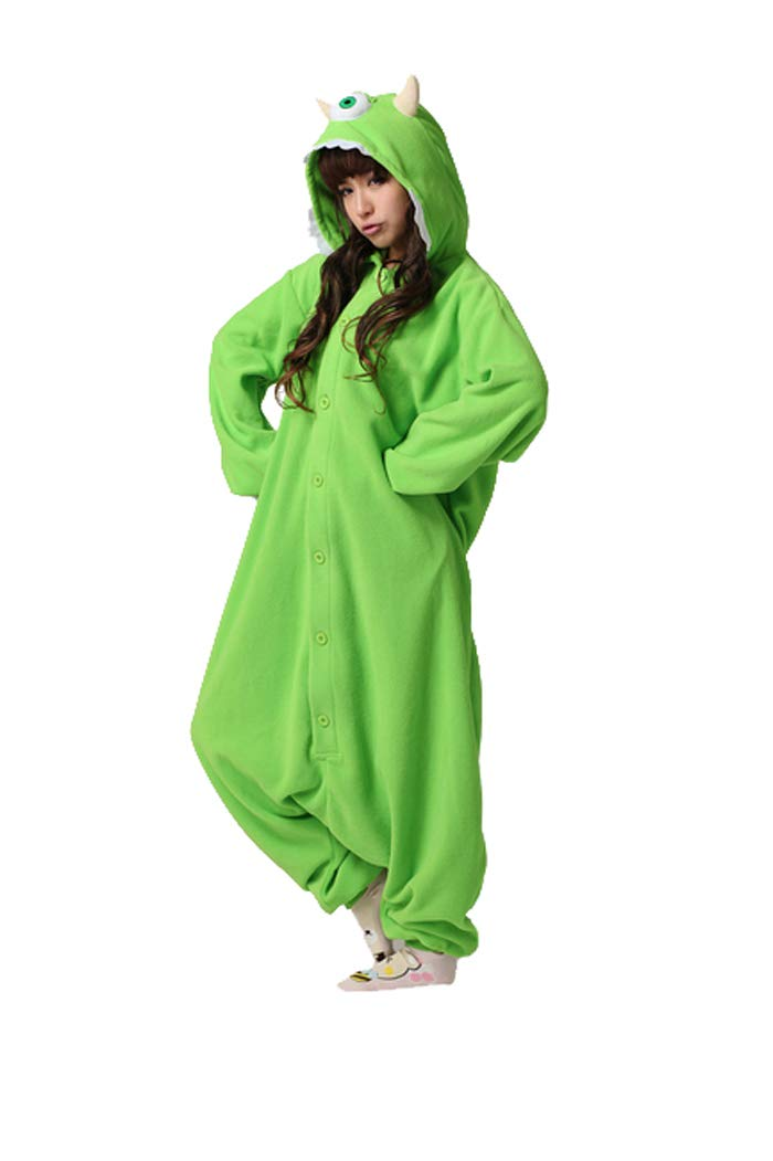 Es Unico Mike Wazowski Onesie Pajama Costume for Adults and Teenagers Large