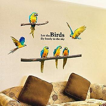 Amazon.com: Scarlet Macaw Tropical Bird Wall Decal - 14\