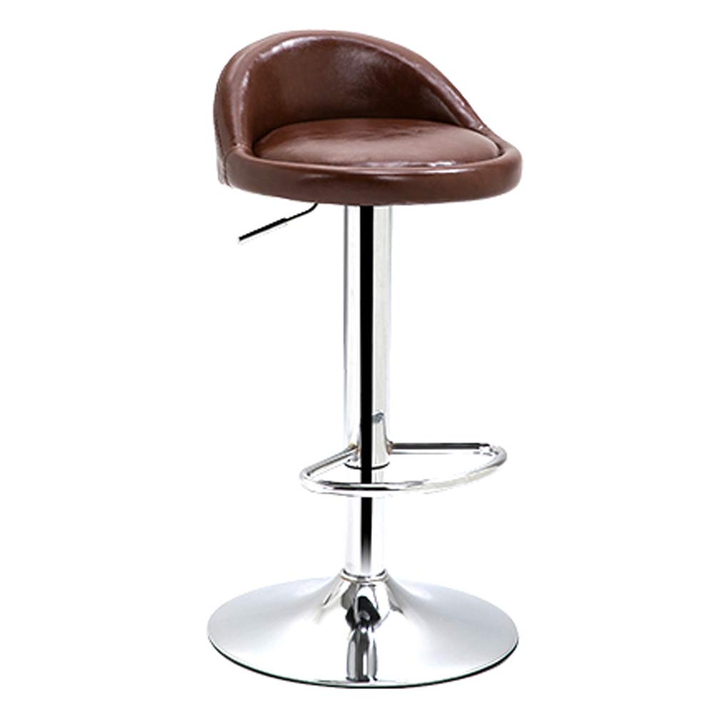 Brown Adjustable bar Chair - Freely redating and Lifting Dining Chair, Living Room Meeting Chair-Black