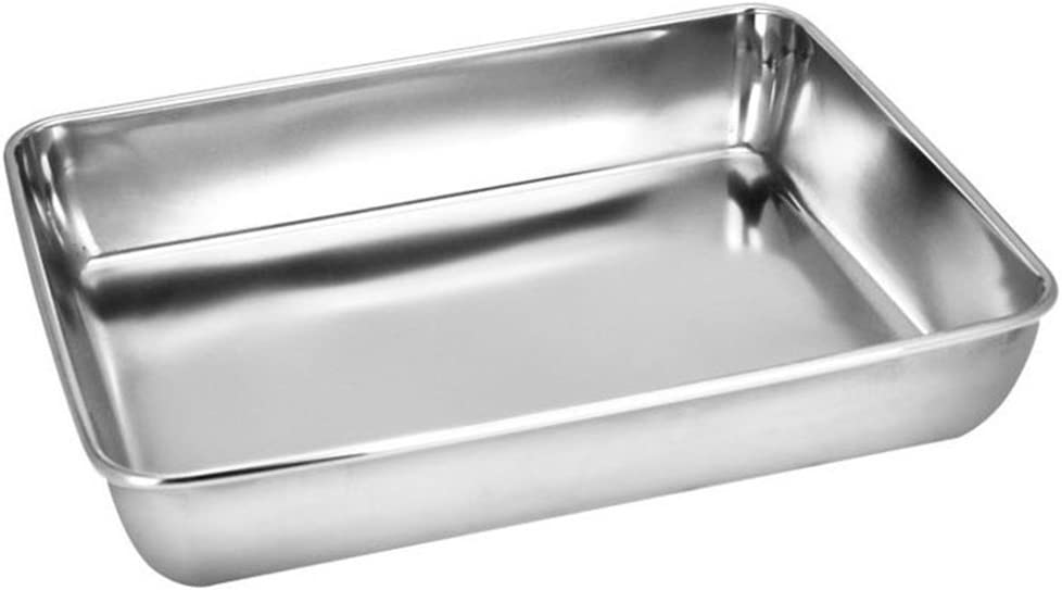 Sheet Pan,Cookie Sheet,Heavy Duty Stainless Steel Baking Pans,Toaster Oven Pan,Jelly Roll Pan,Barbeque Grill Pan,Deep Edge,Superior Mirror Finish, Dishwasher Safe (16.2x12.6x2.4 inches)