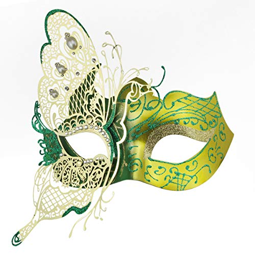 Coddsmz Cute Butterfly Metal Lady Masquerade Halloween Mardi Gras Mysterious Party Mask