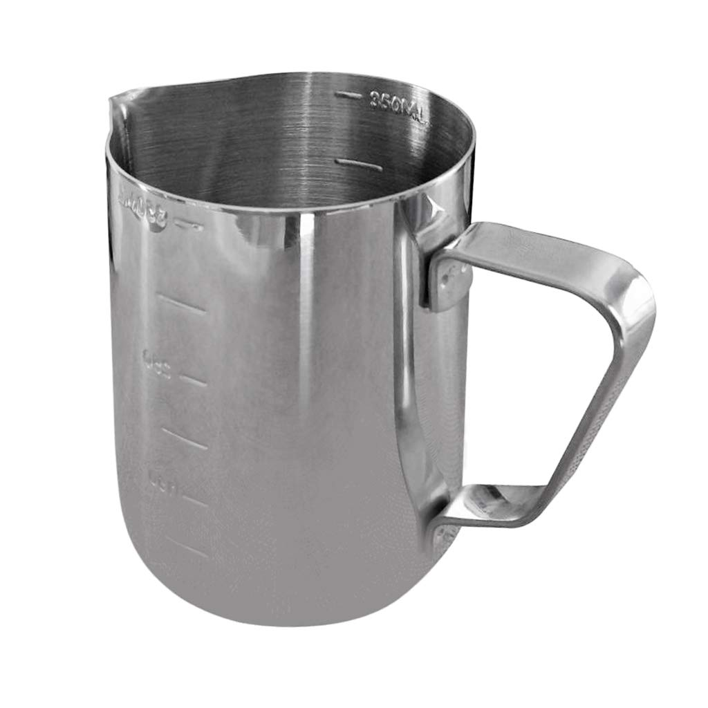 Prettyia Multi-Functional Top Grade 350ML Stainless Steel Milk Frothing Jug Coffee Pitcher Candle Making Pitcher Wax Melting Pots Candle Making Pouring Pot