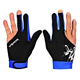 1 Pair Professional Billiards Gloves 3 Fingers Carom Snooker Pool Cue Shooters Hunting Gloves Men Women Lycra Gloves