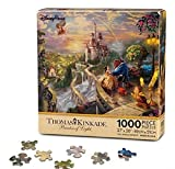 1000 piece puzzles disney castle - Walt Disney Parks Exclusive Thomas Kinkade Beauty and the Beast Falling in Love Castle 1000 Piece Puzzle