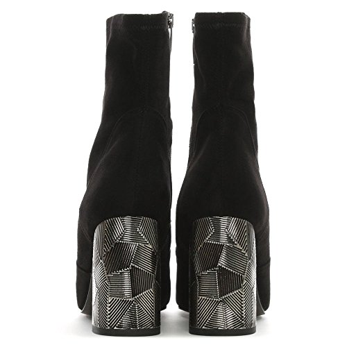 Suede Metal Grouper Boots Black Heel Daniel Suede Black Ankle Block 1aExnqPg