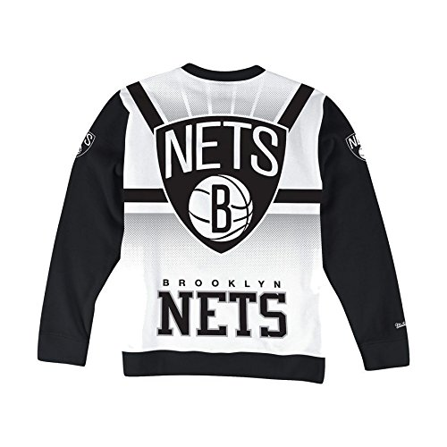 Mitchell & Ness NBA Brooklyn Nets - Camisa de entrenamiento, Size Small, Blanco