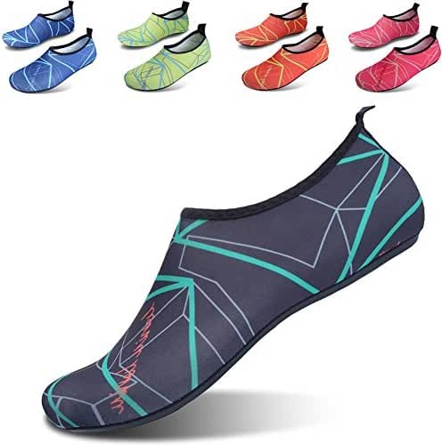 Womens and Mens Classic Barefoot Water Sports Skin Shoes Aqua Socks for Beach Swim Surf Yoga Exercise