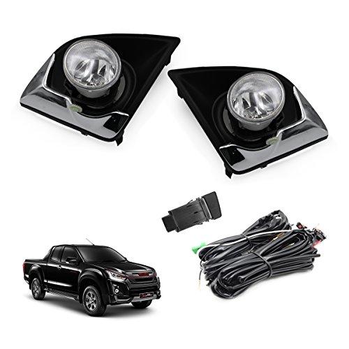 Powerwarauto Set Kit Fog Lamp Spot Light Trim Fits Isuzu D-Max Rodeo V-cross Hi-Lander Pickup 1.9Blue Power 2018 2019