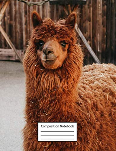- Composition Notebook: Llama Alpaca | Page Size is 7.44
