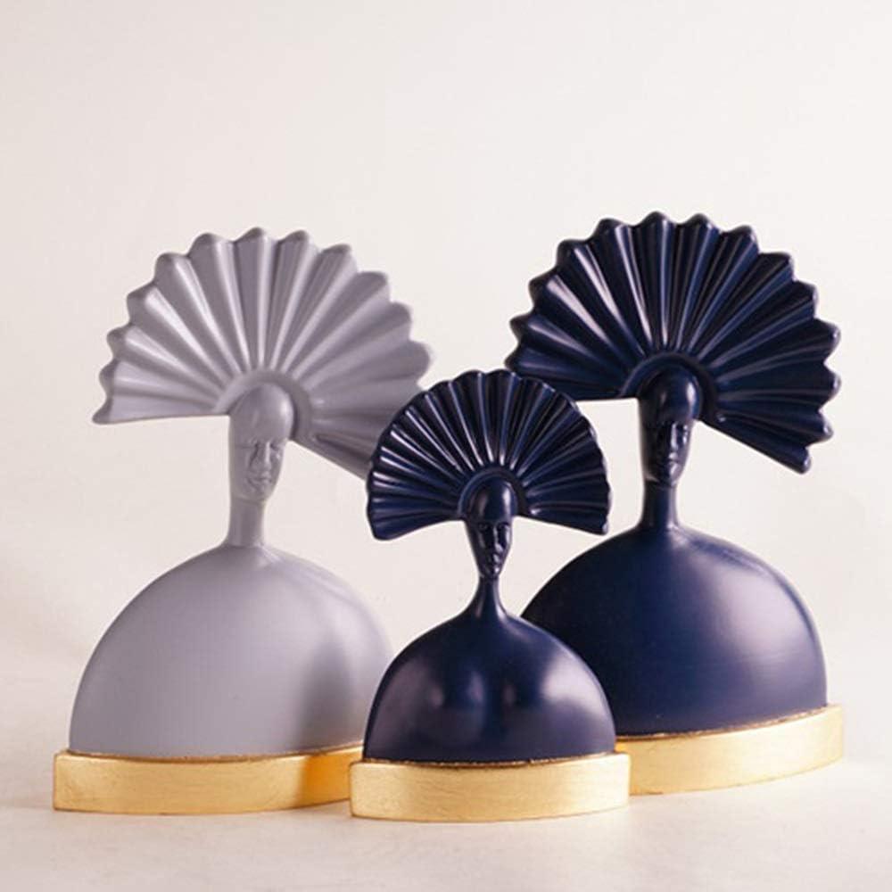 BICCQアートワーク 新古典ヨーロッパのモデルルームの装飾のリビングルームの装飾品、現代装飾ガラス燭台の結婚式の贈り物 (Size : D)