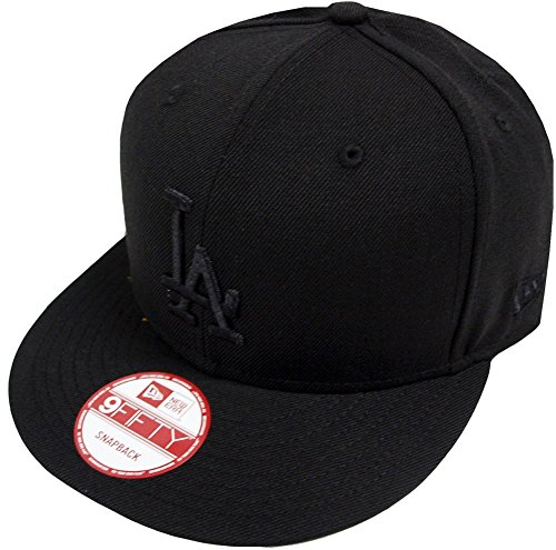 New Era Los Angeles Dodgers Black On Black Snapback Cap 9fifty Limited Edition ()