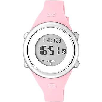 Reloj Tous Soft Digital de acero con correa de silicona rosa Ref:800350610 Niña: Amazon.es: Relojes