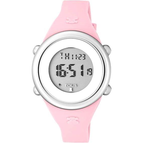 3d2c8ec96b Reloj Tous Soft Digital de acero con correa de silicona rosa Ref:800350610  Niña: Amazon.es: Relojes