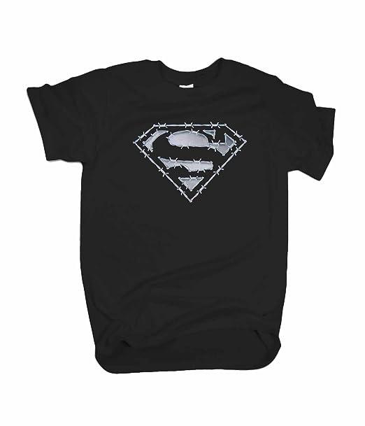 Amazon.com: Superman Barbed Wire T-Shirt / Marvel\'s Superman ...