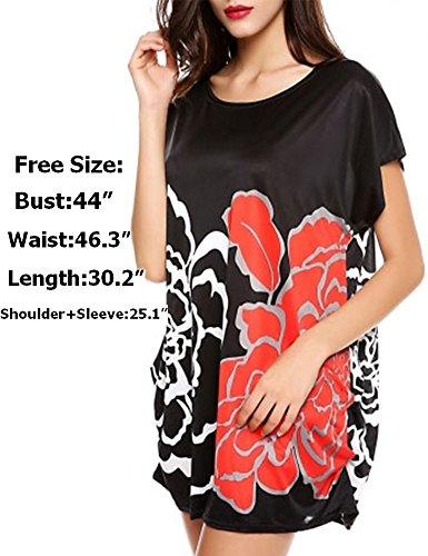 Naggoo Womens Floral Printed Tshirt