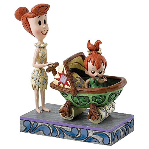 Enesco Hanna Barbera Jim Shore Flintstones Wilma w/Pebbles in Baby Car Bedrock Buggy #4058334 ()