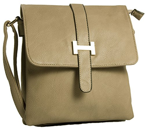 Multipocket bh534 Crossbody Bolsa Shop Big Light Hombro Tan Messenger Para Bolso Mujer De 0ag0InqY7