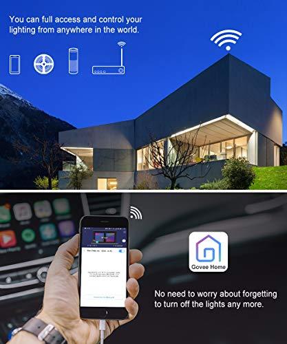 MINGER RGB LED Strip Lights, 16 4ft WiFi Wireless Smart Phone Controlled  Light Strip Kit, Amazon Alexa, Echo Control RGB Led Strip Lights Music  Sync,