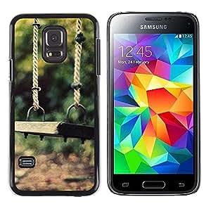 LECELL -- Funda protectora / Cubierta / Piel For Samsung Galaxy S5 Mini, SM-G800, NOT S5 REGULAR! -- Nature Beautiful Forrest Green 86 --