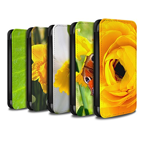 Stuff4 Coque/Etui/Housse Cuir PU Case/Cover pour Apple iPhone 4/4S / Multipack Design / floral Fleurs Collection