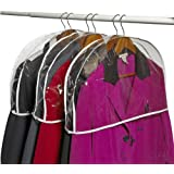Clear Vinyl Shoulder Covers Closet Suit Protects Storage Home Decor Set of 12