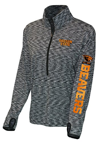 NCAA Oregon State Beavers Women's Front Zip Space Dye, X-Large, Black