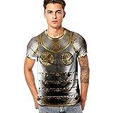 Men T-Shirt,OWMEOT Unisex Funny Vehicle 3D Printing Pattern Printed Short Sleeve T-Shirts Top Tees (Black B, M)