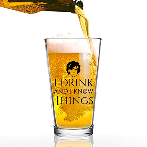 Drink Know Things Beer Glass