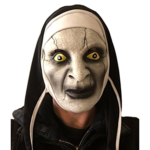 [Scary Nun Mask, Latex, Horror, Varak, Halloween, Nuns Habit Costume] (Nun Habit Halloween Costume)