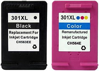 BXA Cartuchos Reemplazo para HP 301XL Cartuchos Tinta Remanufacturados CH563E/CH564E Cartuchos Inkjet ,1 Color y 1 Negro: Amazon.es: Oficina y papelería