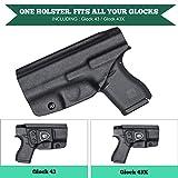 Glock 43 Holster, IWB KYDEX Holster Fit: Glock 43