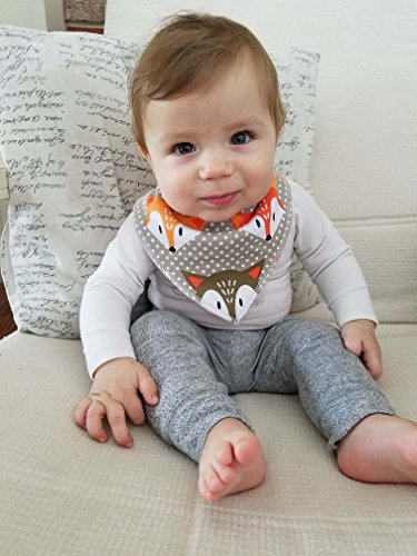 Baby Bandanna Drool Bibs + Natural Baby Wood Teethers + 2 Braided Pacifier Clips - Ultimate Gift Set Combo (4pk Bibs, 2pk brown cognac braided clips, 2 teethers, 8 pack combo)