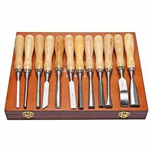 Amazon.com: Wld-Chisel Woodcraft Sculpture Wood Carving Woodworking Craft Carpentry Kit 12Pcs